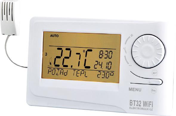 ELEKTROBOCK Termostat bezdrátový digitální prostorový s WIFI a RFM modulem BT32 WIFI Elektrobock