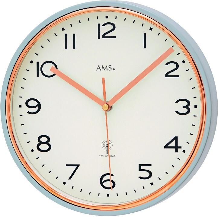 Nástěnné hodiny 5509 AMS řízené rádiovým signálem 25cm