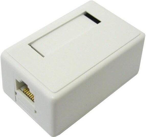 DATACOM Datová zásuvka UTP CAT5E 1xRJ45 na omítku bílá (2311)