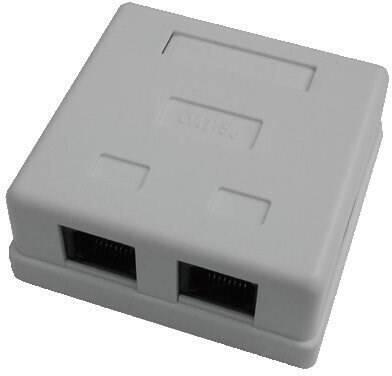 DATACOM Datová zásuvka UTP CAT5E 2xRJ45 na omítku bílá (2312)