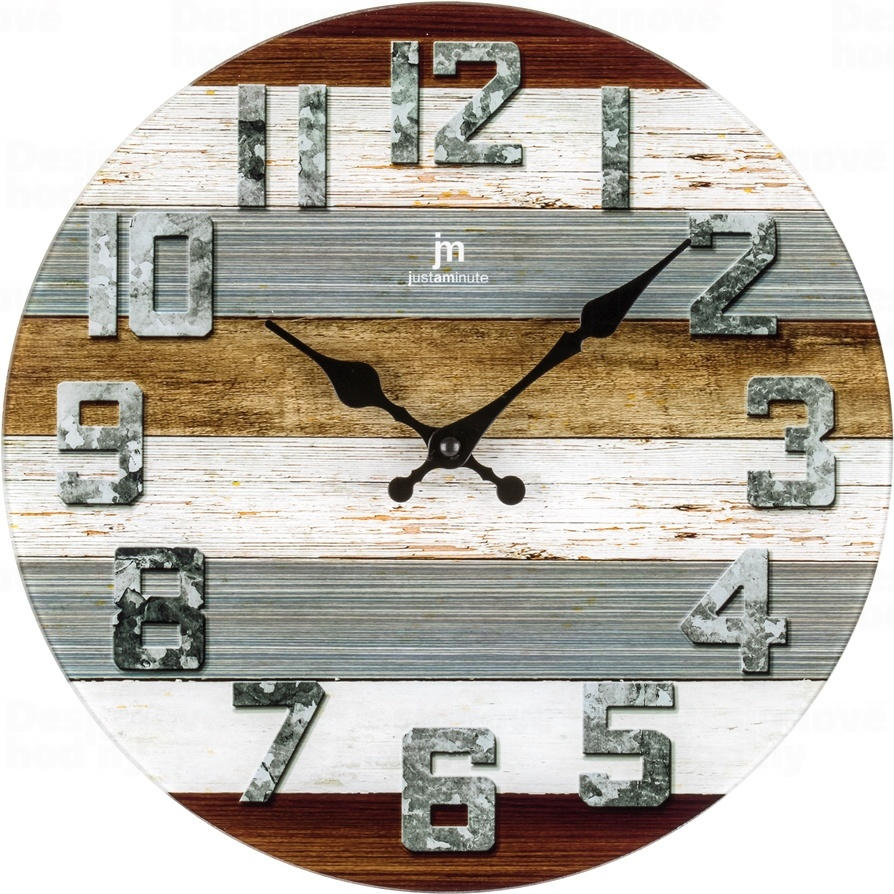 Designové nástěnné hodiny 14886 Lowell 34cm
