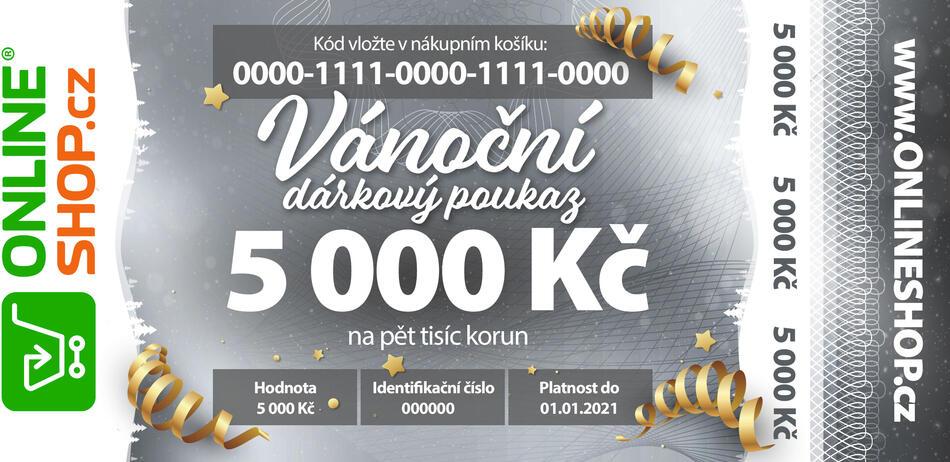 Vánoční on-line poukaz v hodnotě 5 000 Kč