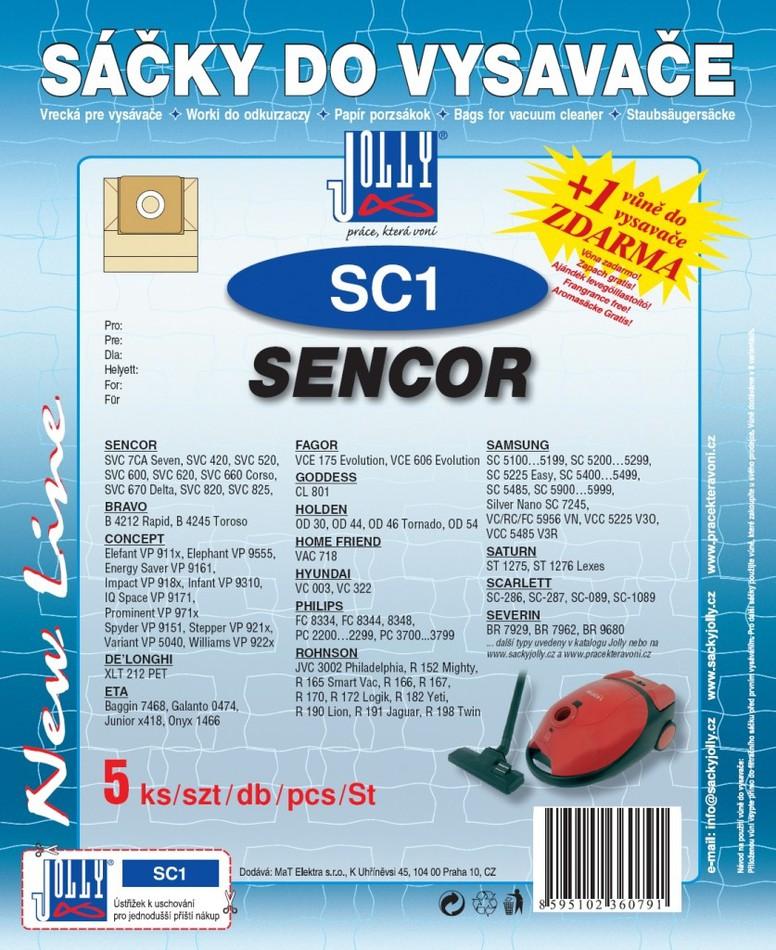 Sáčky do vysavače Jolly SC 1 (5ks) do vysav. Hyundai