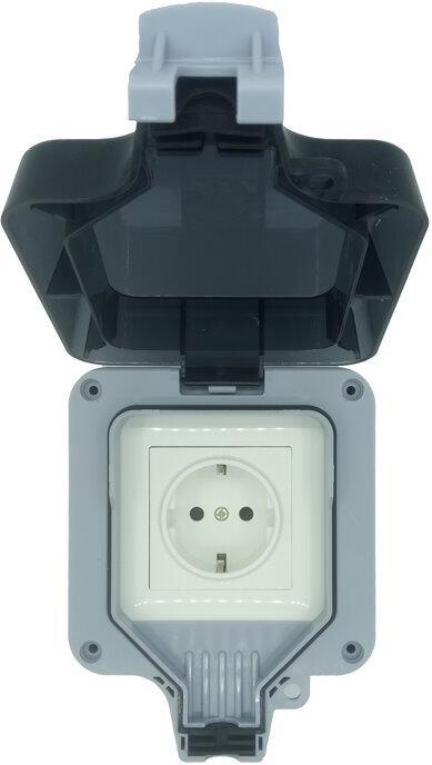 IMMAX NEO LITE Smart venkovní zásuvka IP66/ WiFi/ Google Assistant/ Amazon Alexa (07708L)