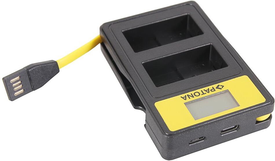 PATONA nabíječka Foto Dual Panasonic DMW-BLC12 E s LCD,USB (PT141625)