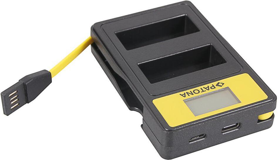 PATONA nabíječka Foto Dual Panasonic DMW-BLG10 s LCD,USB (PT141655)