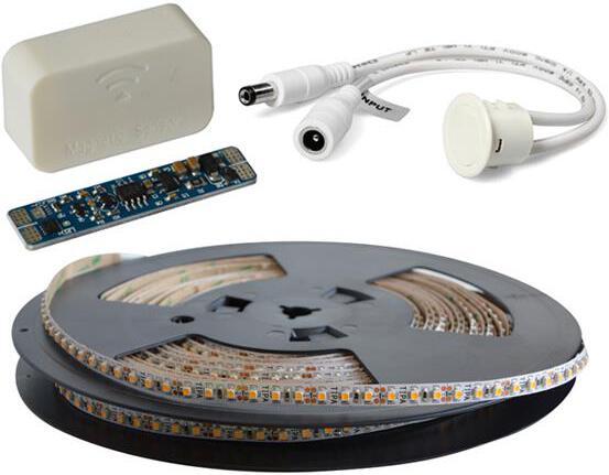 LED pásek sada 20m 12V 3528 120LED/m IP20 max. 9,6W/m bílá teplá extra, gold + TD308 + MC310 TIPA
