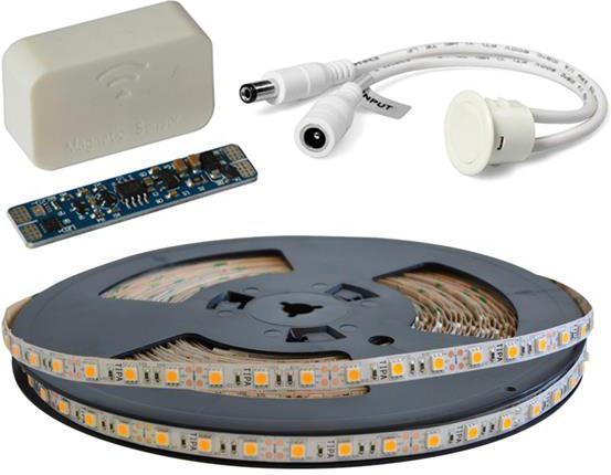 LED pásek sada 20m 12V 5050 60LED/m IP20 max. 14,4W/m bílá teplá extra, gold + TD308 + MC310 TIPA