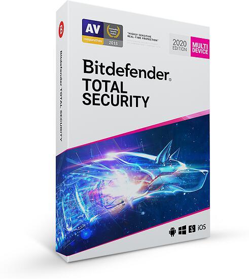 Bitdefender Total Security 2020 5 zařízení na 1 rok BOX (TS01ZZCSN1205LEN_BOX)
