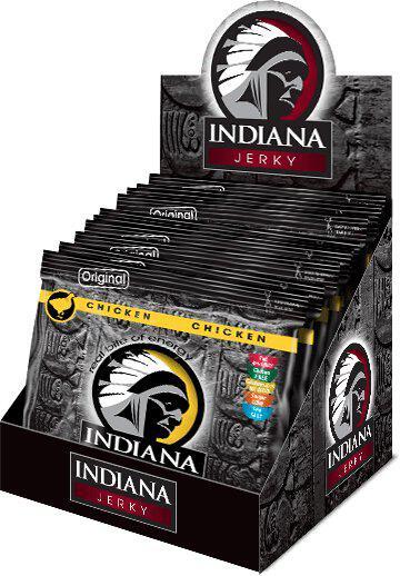 INDIANA Jerky kuřecí, Original, 600g - display INDIANA s.r.o.