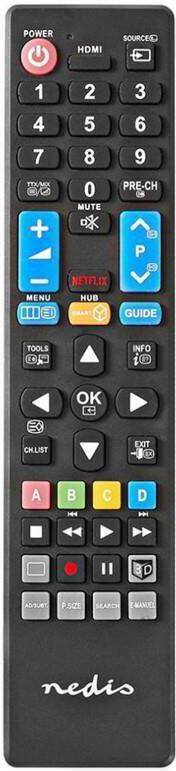 NEDIS předprogramovaný dálkový ovladač kompatibilní se všemi televizory Samsung (TVRC41SABK)