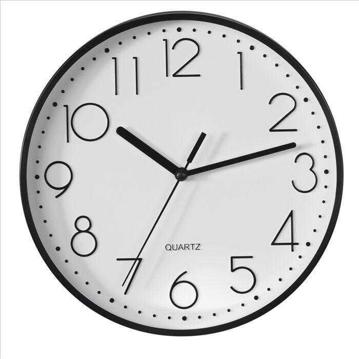 HAMA nástěnné hodiny PG-220/ průměr 22 cm/ tichý chod/ 1x AA baterie/ černé (186343)