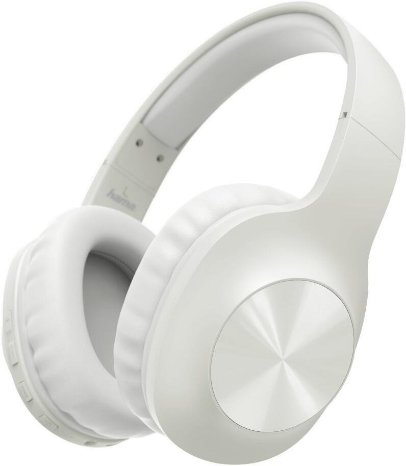 HAMA headset Calypso/ bezdrátová sluchátka + mikrofon/ uzavřená/ Bluetooth/ citlivost 100 dB/ krémově bílá (184062)