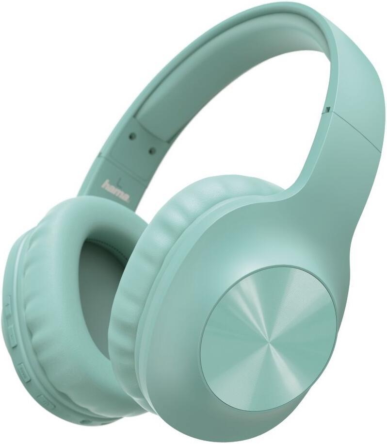HAMA headset Calypso/ bezdrátová sluchátka + mikrofon/ uzavřená/ Bluetooth/ citlivost 100 dB/ zelená (184061)