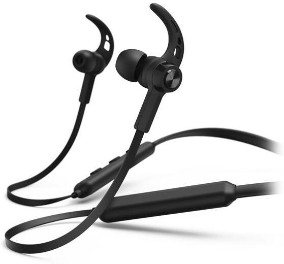 HAMA headset Connect Neck/ bezdrátová sluchátka + mikrofon/ špuntová/ Bluetooth/ citlivost 96 dB/mW/ černá (184022)