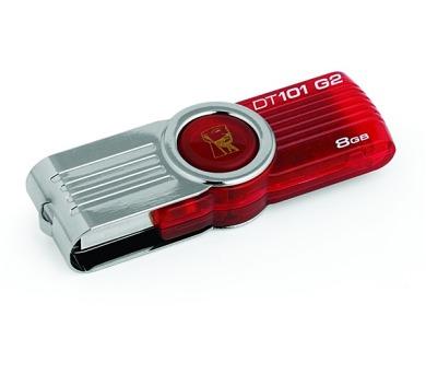 Kingston DataTraveler 101 8GB USB 2.0 - červený