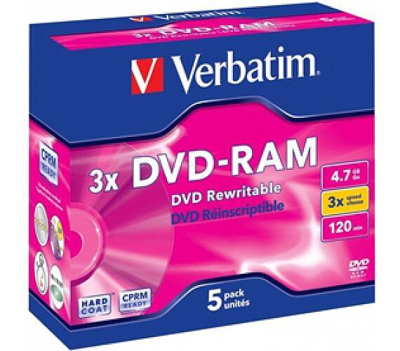 Verbatim DVD-RAM 4,7GB 3x jewel box