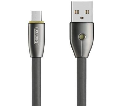 REMAX datový kabel Knight / RC-043m / USB 2.0 typ A samec na USB 2.0 micro-B / 1m / černý (RC-043m black)