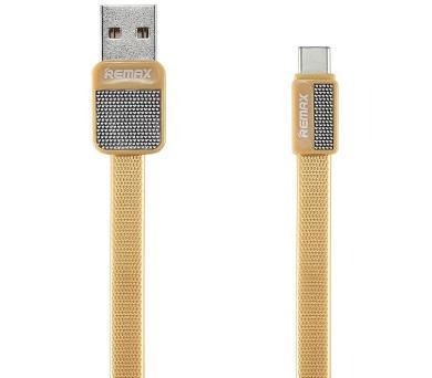 REMAX datový kabel Platinum / RC-044a / USB 2.0 typ A samec na USB Type-C / 1m / zlatý