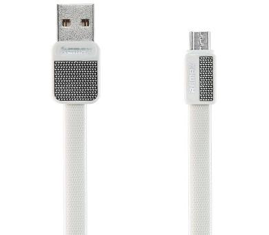 REMAX datový kabel Platinum / RC-044m / USB 2.0 typ A samec na USB 2.0 micro-B / 1m / white