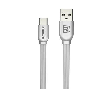 REMAX datový kabel / RC-047a / USB 2.0 typ A samec na USB Type-C / 1m / stříbrný
