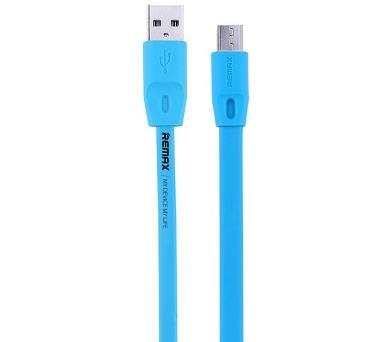 REMAX datový kabel Full speed / USB 2.0 typ A samec na USB 2.0 micro-B / 2m / modrý