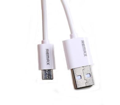 REMAX datový kabel Fast Charging / USB 2.0 typ A samec na USB 2.0 micro-B / 1m / bílý (RC-Fast m white)