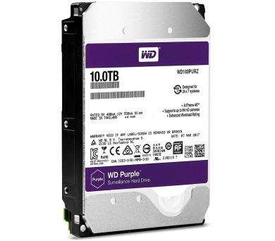 """WD HDD PURPLE 10TB / WD100PURZ / SATA 6Gb/s / Interní 3,5"""" / 5400rpm / 256MB"""