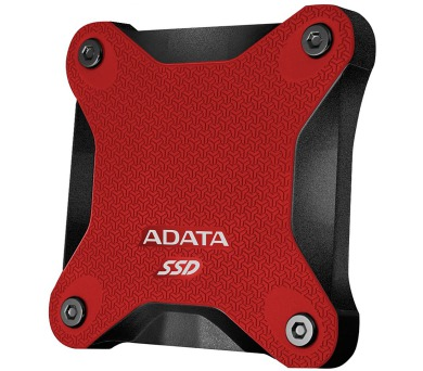 ADATA SD600 512GB SSD / Externí / USB 3.1 / červený