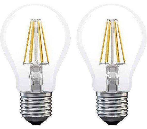 LED žárovka Filament A60 A++ 6W E27 teplá bílá 2ks