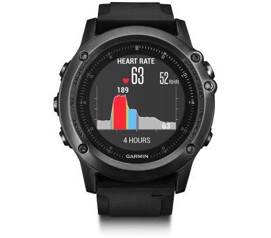 GARMIN GPS chytré hodinky fenix3 Sapphire Optic černá