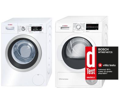 SET Pračka Bosch WAW28560EU + Sušička Bosch WTW87467CS