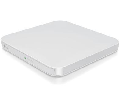 LG DVD±R/RW/ GP95 / DVD 8x / CD 24x / M-disc/ externí slim / bílá / pro Android (GP95EW70.AUAE10B)