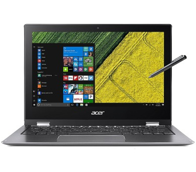 "Acer Spin 1 (SP111-32N-C2RB) Celeron N3350/4GB+N/A/eMMC 32GB+N/A/HD Graphics/11.6"" Multi-touch FHD IPS/BT/W10 Home/Gray (NX.GRMEC.001"