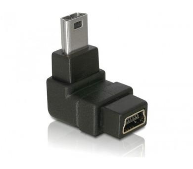 Adaptér USB mini B 5-pin 90° samec na USB mini B samice
