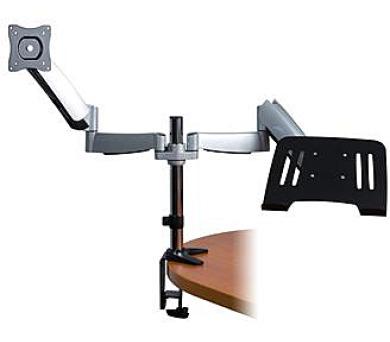 CONNECT IT TWIN ARM stolní držák na LCD monitor a NOTEBOOK - COMBO