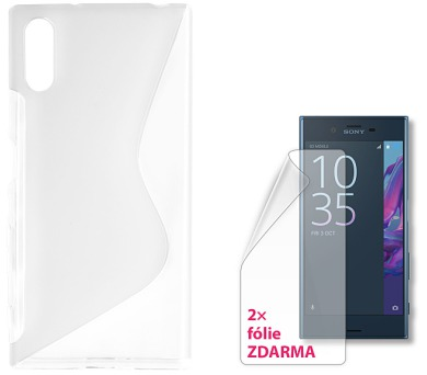 CONNECT IT S-COVER pro Sony Xperia XZ ČIRÉ + 2ks ochranné fólie