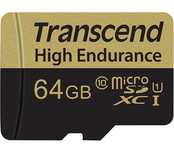 Transcend 64GB microSDXC (Class 10) High Endurance MLC průmyslová paměťová karta (s adaptérem) + DOPRAVA ZDARMA