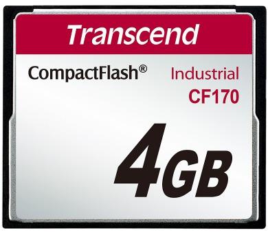 Transcend 4GB INDUSTRIAL CF CARD CF170 paměťová karta (MLC) (TS4GCF170)