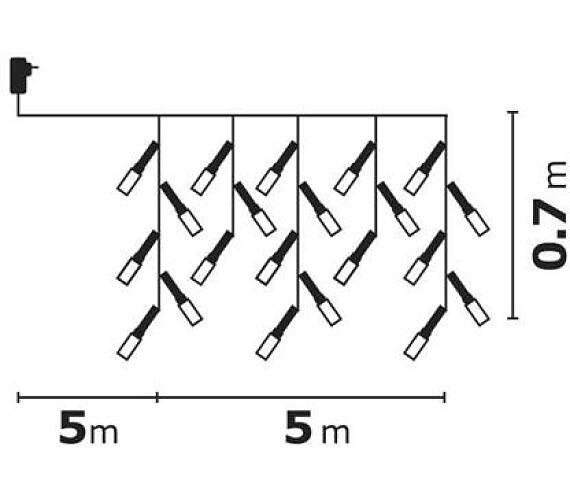 Emos LED dekorační řetěz 300LED XMAS IC.5M IP44 WW MF R + DOPRAVA ZDARMA