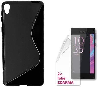 CONNECT IT S-COVER pro Sony Xperia E5 ČERNÉ + 2ks ochranné fólie