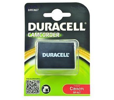 DURACELL Baterie - DRC827 pro Canon BP-827 + DOPRAVA ZDARMA