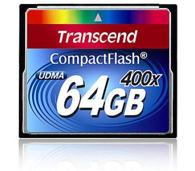 Transcend 64GB CF (400X) paměťová karta (TS64GCF400)