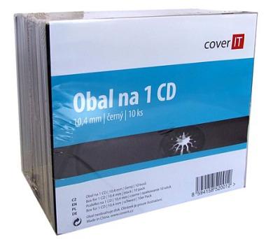 COVER IT box: 1 CD jewel box + tray 10pck/BAL