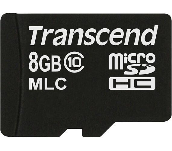 Transcend 8GB microSDHC (Class 10) MLC průmyslová paměťová karta (bez adaptéru)