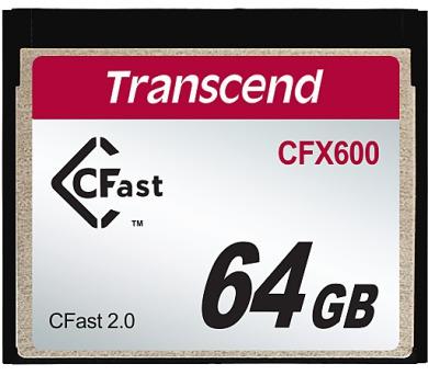 Transcend 64GB CFast 2.0 CFX600 paměťová karta (MLC)
