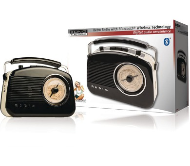 König HAV-TR800BL - Přenosné Bluetooth rádio AM / FM AUX + DOPRAVA ZDARMA