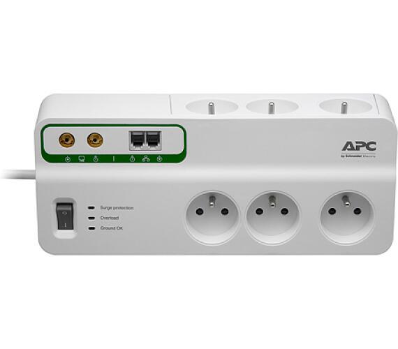 APC Home/Office SurgeArrest 6 Outlets with Phone and Coax Protection 230V Czech (PMH63VT-FR) + DOPRAVA ZDARMA