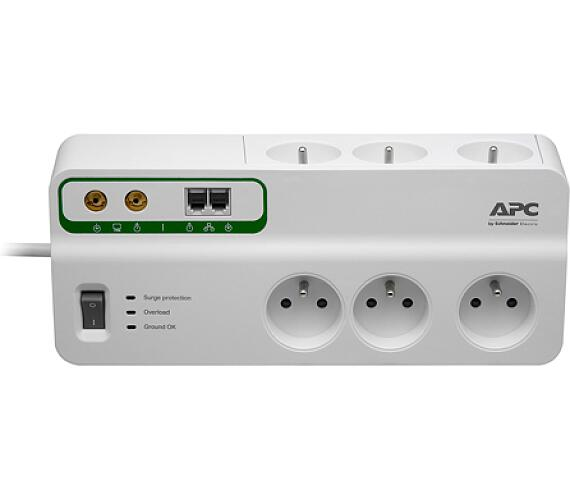 APC Home/Office SurgeArrest 6 Outlets with Phone and Coax Protection 230V Czech + DOPRAVA ZDARMA