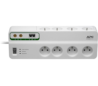 APC Performance SurgeArrest 8 outlets with Phone & Coax Protection 230V Czech (PMF83VT-FR)